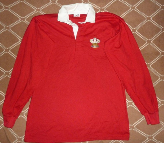 Jersey Wales Rugby 1980's Vintage