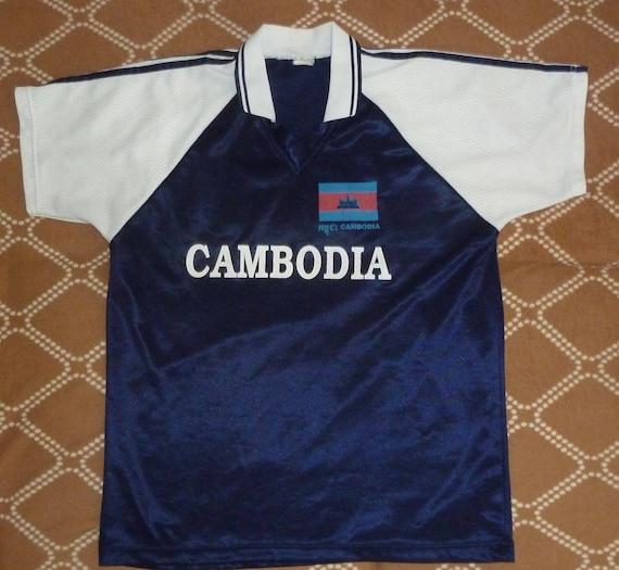 Rarely Vintage Jersey Cambodia 1990's HatTrick Spo