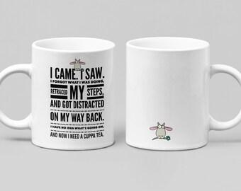 Funny Tea mug - Large 11-15oz mug - Mugs for Women, Friend, Boss, or Spouse - Perfect Birthday, Christmas, Hanukkah gift