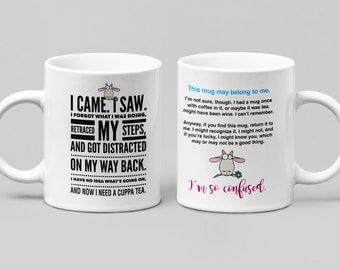 Funny tea mug - large 11-15oz mug - mugs for women, friend, boss, or spouse - perfect birthday, christmas, hanukkah gift, perfect for men...