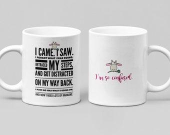 Funny Karaoke mug - Large 11-15oz mug - Mugs for women, friend, or spouse - perfect birthday, Christmas, Hanukkah gift, Unique, Ceramic