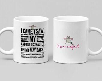 Need Chocolate - Funny Mug - Large 11-15oz mug - Mugs for women, friend or spouse - Perfect Birthday, Christmas, Hanukkah or Just Because...