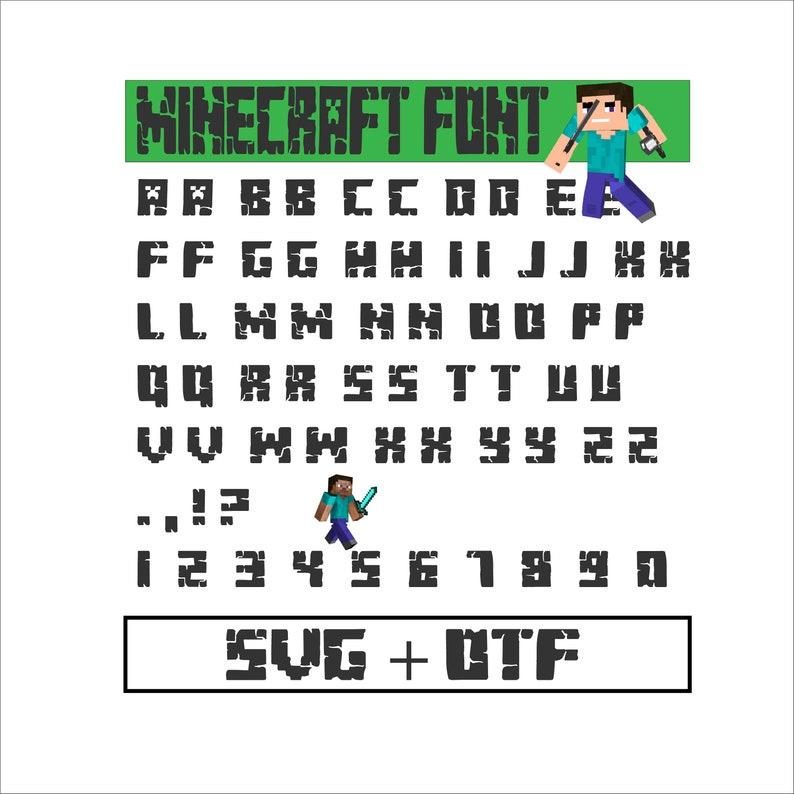 Minecraft Font SVG Minecraft SVG Minecraft Alphabet Minecraft Etsy