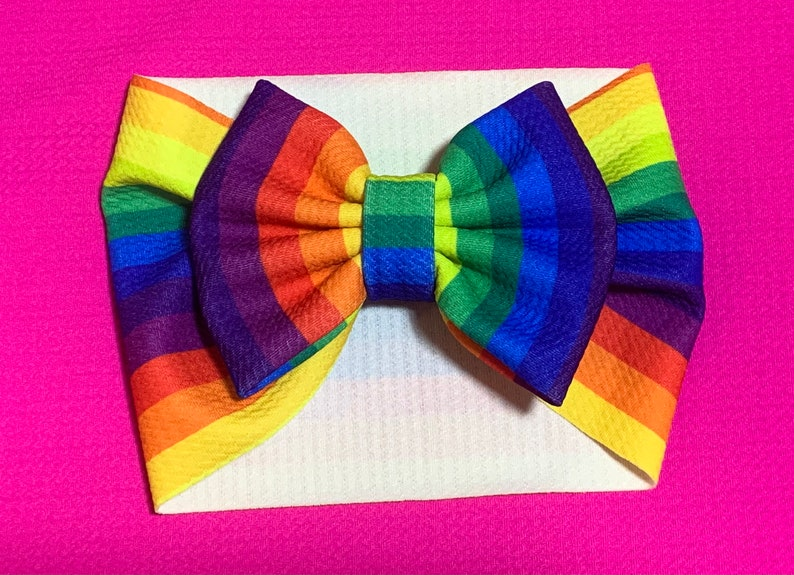 Rainbow infant or toddler headwrap