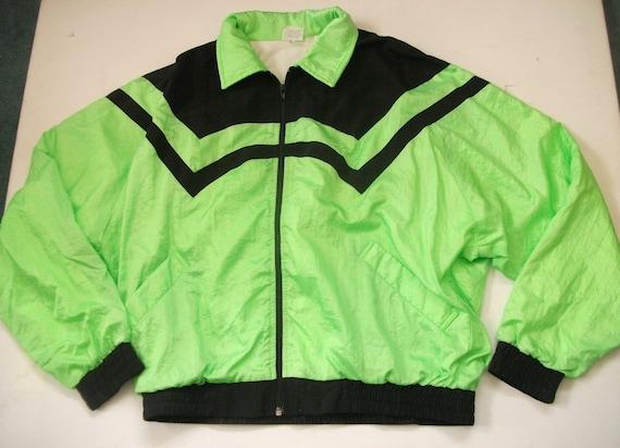 Neon green vintage windbreaker
