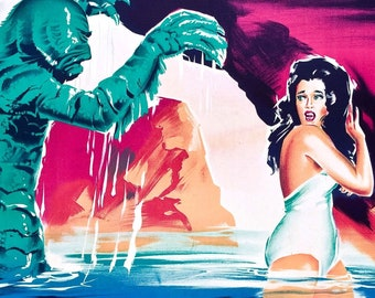 """Creature from the Black Lagoon w/ FREE SHIPPING! -- 11"""" x 17"""" Poster Art Print"""