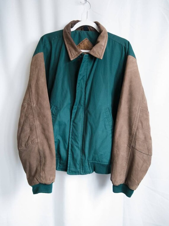 Vintage Leather Letterman Jacket by Gear for Sport
