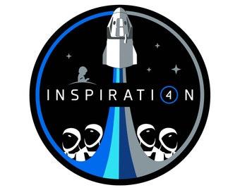 NASA Inspiration 4 Vinyl Sticker - 3in