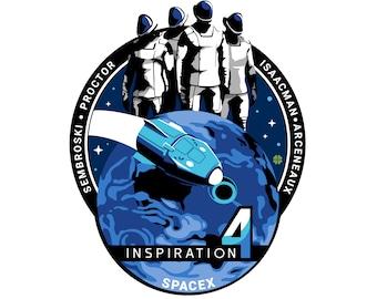 SpaceX Inspiration 4 Vinyl Sticker - 3in