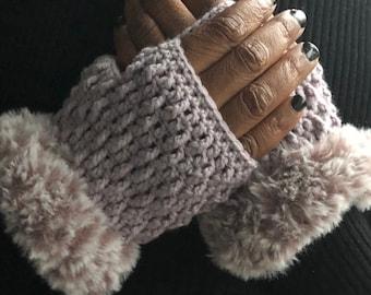 Fingerless Gloves, Handmade Mittens, Wrist Warmers, Marian Bay Mitts Crochet Pattern Pdf Download ONLY