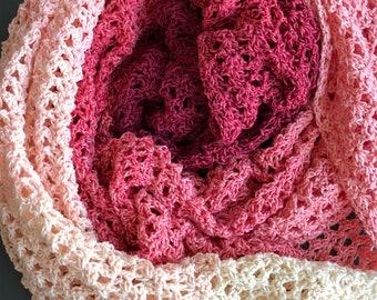 Crochet Pattern, Shanae, Rectangle Shawl, Pdf pattern, Digital Download
