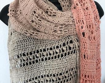 Easy Long Wrap Shawl Crochet Pattern , Pashmina Shawl Pattern, Estelle Wrap
