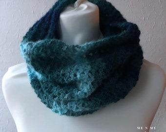 Easy Crochet Cowl Pattern, Fanfare Cowl, Easy Scarf, Beginner Neck warmer