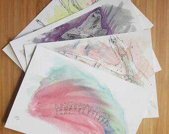 Skeletal Set of 4 prints