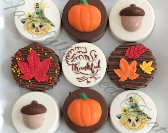 Thanksgiving Fall Cookies Chocolate Covered Oreos