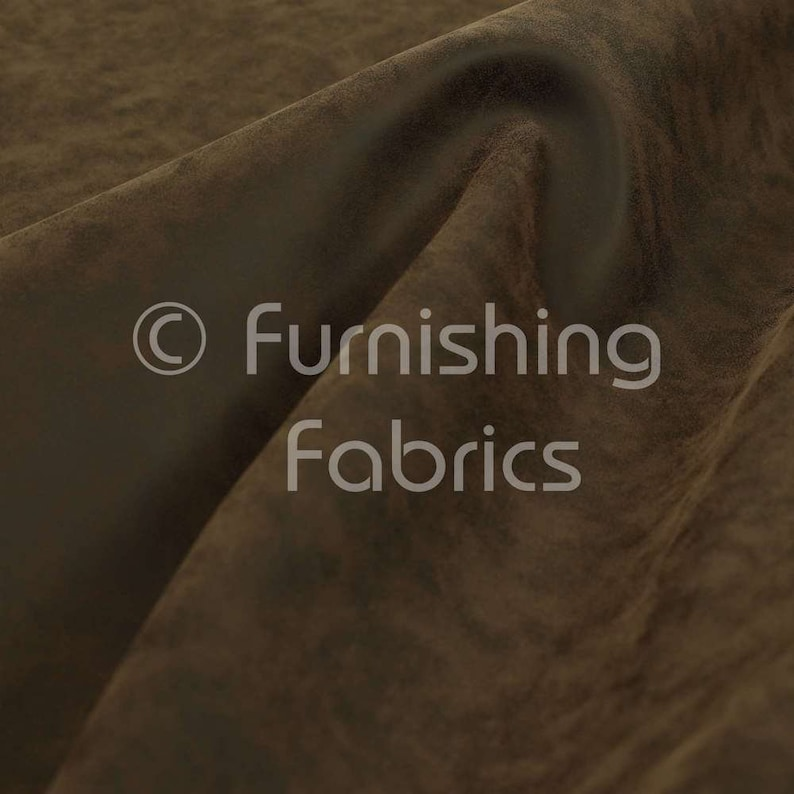 Free Worldwide Delivery Furnishing Fabric Beautiful Soft Textured Semi Faux Suede Upholstery Vinyl Material Fabric  Brown Chocolate Colour