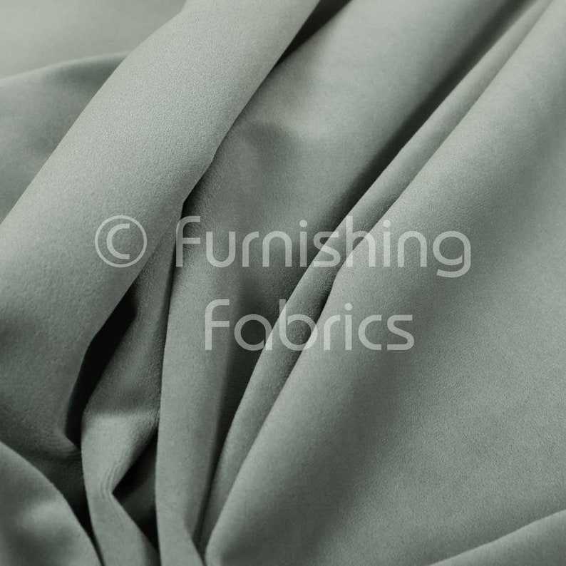 Free Worldwide Delivery Furnishing Fabric Plain Quality Velvet Brushed Effect Cotton Imitation Upholstery And Curtain Flint Silver
