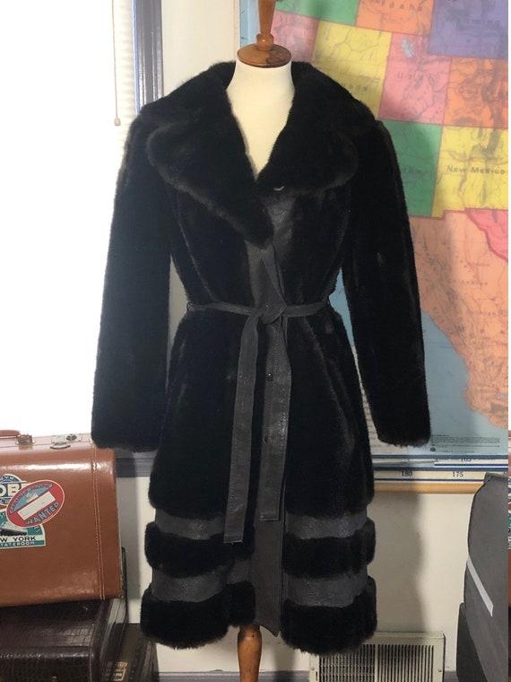 Women's vintage 1970's faux fur coat by Grandella