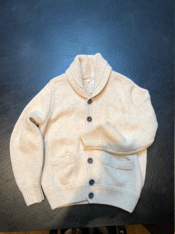 Men's vintage Dockers  lambswool classic cardigan