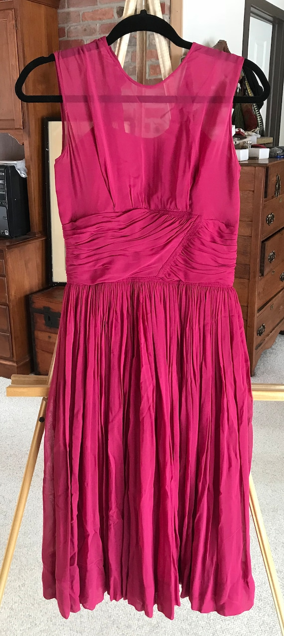 1950s Fuschia Kerrybrooke Cocktail Dress