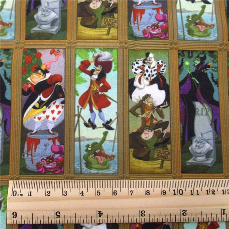 PRE-ORDER Haunted Mansion Stretching Portraits Villains poly cotton per half meter