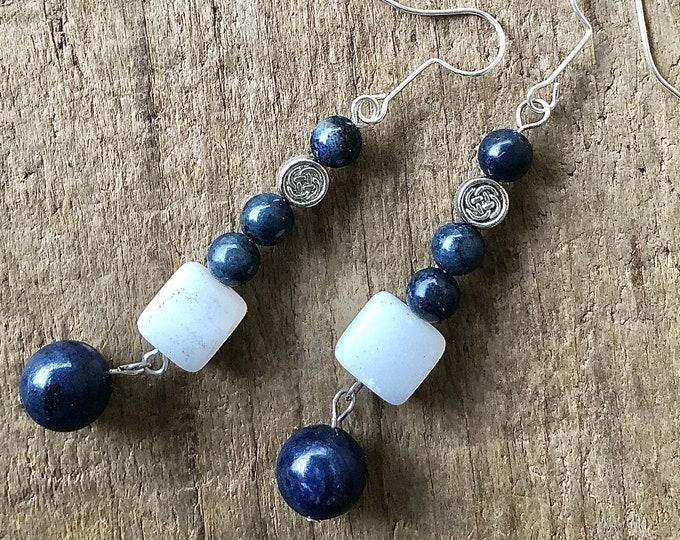 Sodalite & Calcite Earrings