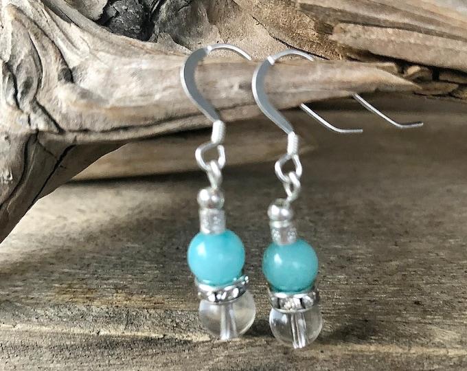 Blue Amazonite & Rose Quartz Bracelet