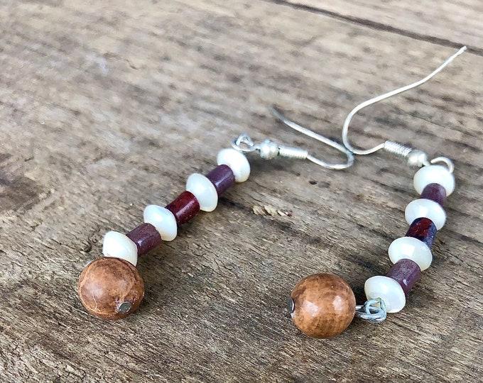 Jasper & Quartz Drop Earrings