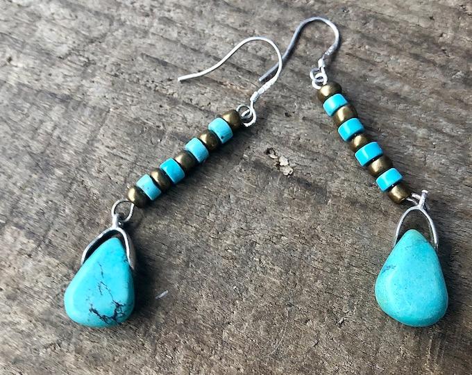 Turquoise & Copper Earrings