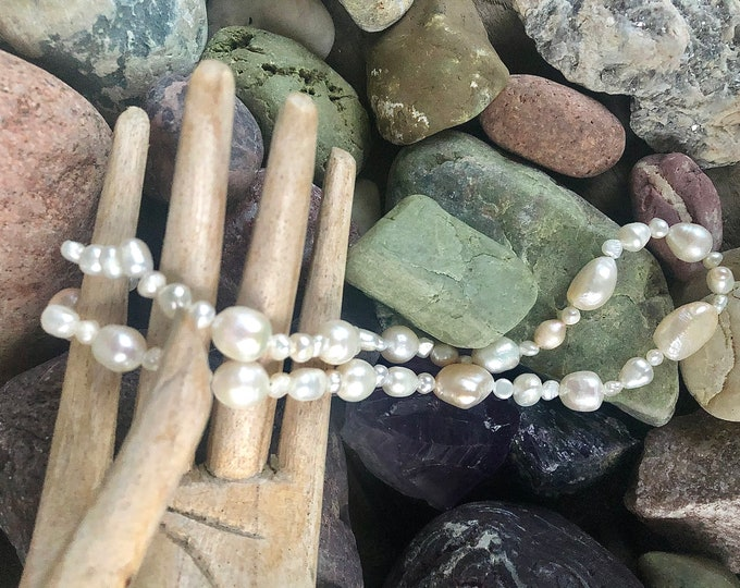 Ivory and White Freshwater Pearl Necklace