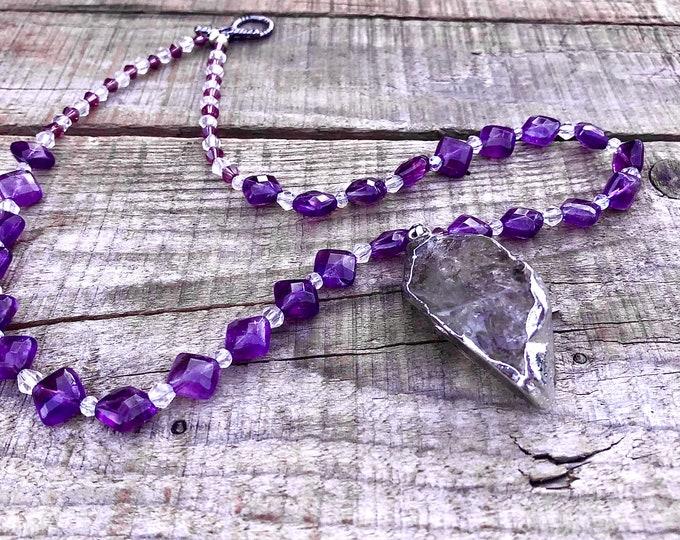 Amethyst & Crystal Necklace