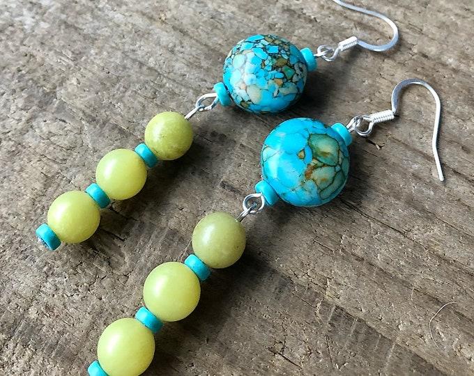 Jasper, Jade & Turquoise Earrings
