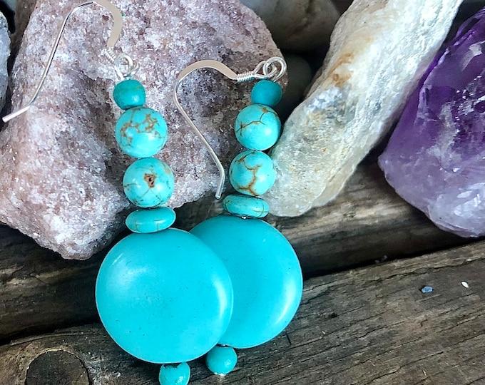 Turquoise & Silver Earrings