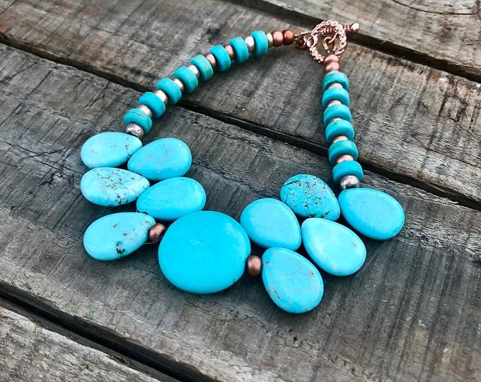 Turquoise & Copper Bracelet