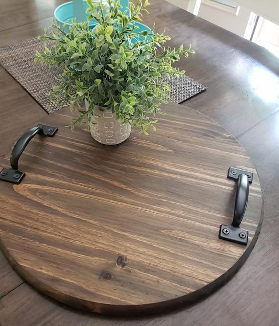 Plain Round Wood Tray