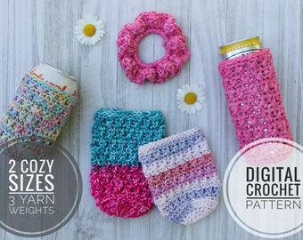 Choose Color Crocheted Can Cozy