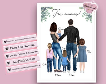 personalized family | dad gift | family poster | grandparents gifts
