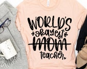 World 39 s Okayest Mom, Teacher, Funny Homeschool, Distance Learning, Social Distancing, Quarantine svg png dxf Cricut Silhouette cut files