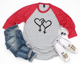 Lesbian svg, Double Female Gender Symbol Hearts, Gay Pride Valentine SVG, Gay Pride svg, Queer svg, Pride Rainbow svg, LGBTQ+ svg