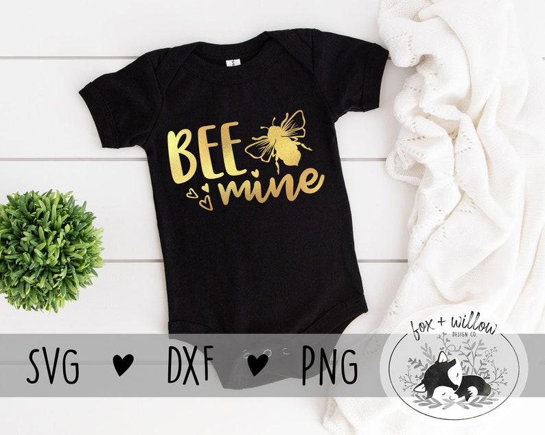 Bee Mine SVG  Be Mine SVG  Kids Valentine SVG  Baby image 0