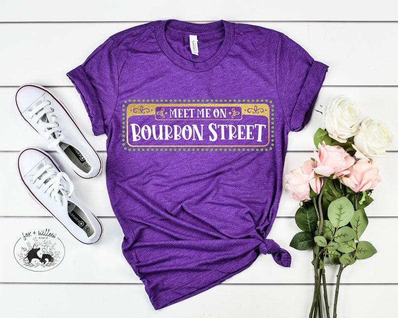 Mardi Gras SVG  Meet Me on Bourbon Street SVG  Happy Mardi image 0
