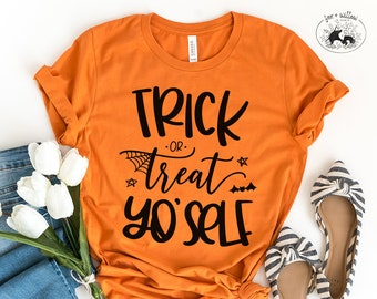 Trick or Treat Yo'Self SVG, Trick or Treat Yourself, Cute Halloween Cut File, Funny Halloween SVG | svg dxf png | Cricut Silhouette Cut File