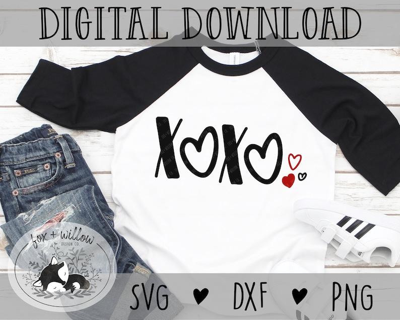 xoxo hearts Valentine SVG  Girls Valentines svg  Valentines image 0