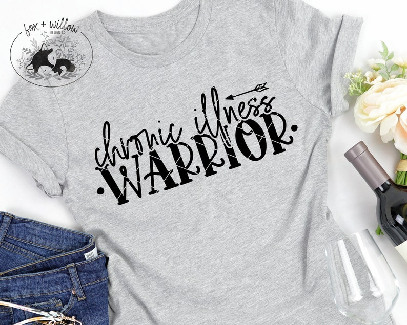 Chronic Illness Warrior SVG  Rare Disease Day SVG  Invisible image 0