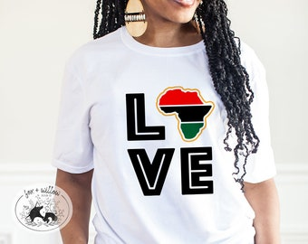 Africa LOVE SVG   Black History Month SVG   Black Pride svg   African History svg   Pan-African Flag svg   Juneteenth svg   svg png dxf