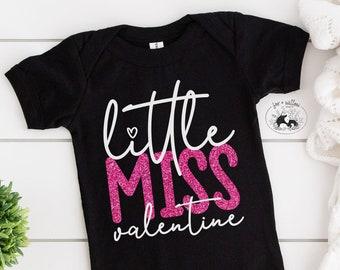 Valentine SVG for Girls | Baby Valentine's SVG | Little Miss Valentine SVG | Kid's Valentine svg for Silhouette Cricut | Vinyl htv stickers
