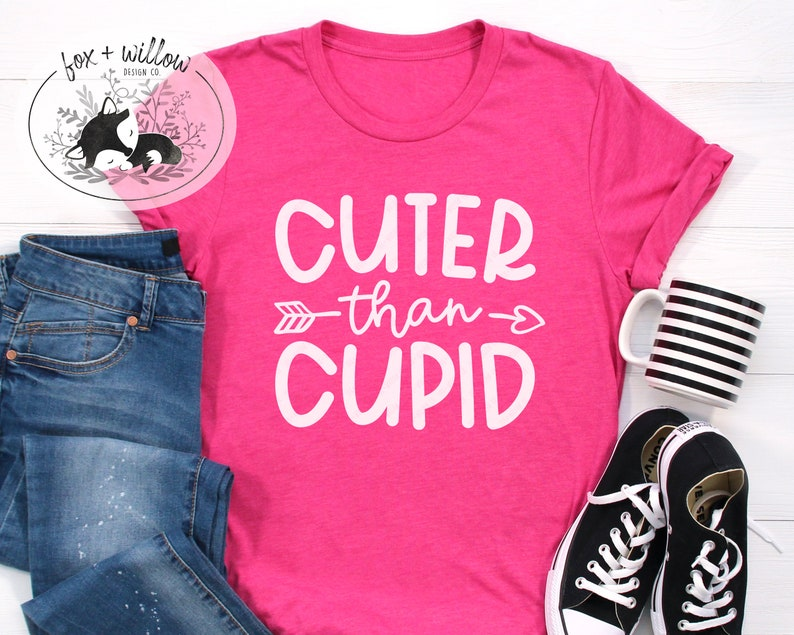Cuter than Cupid SVG  Baby Boys Valentines SVG  Baby Girls image 0