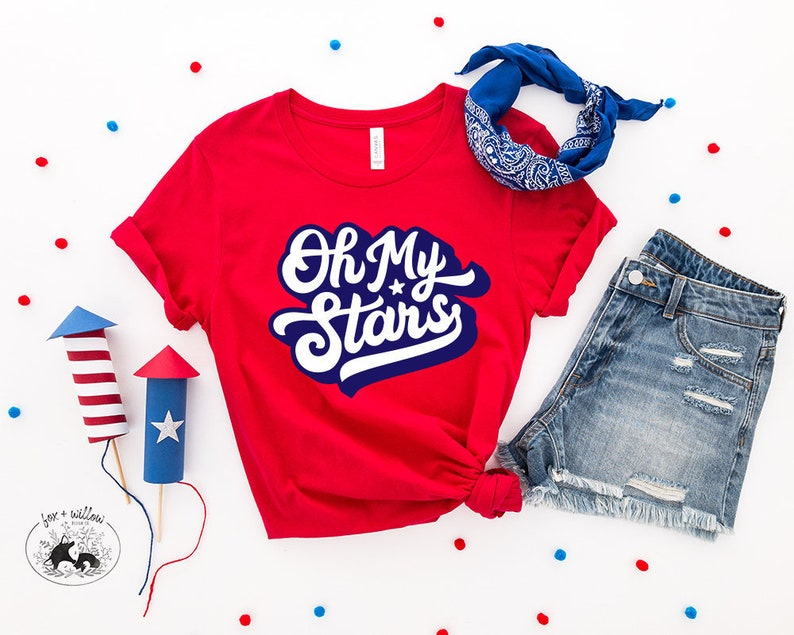 Oh My Stars Southern Saying Patriotic 4th of July Fourth image 0