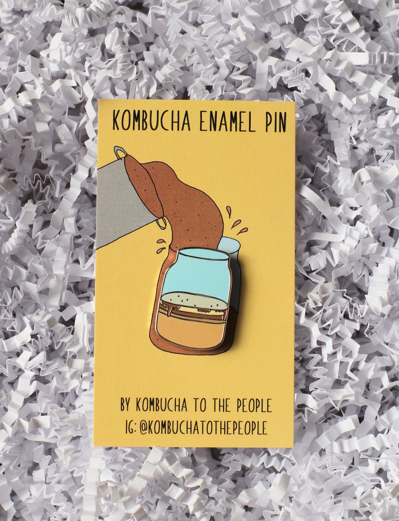 Kombucha SCOBY Enamel Pin image 0