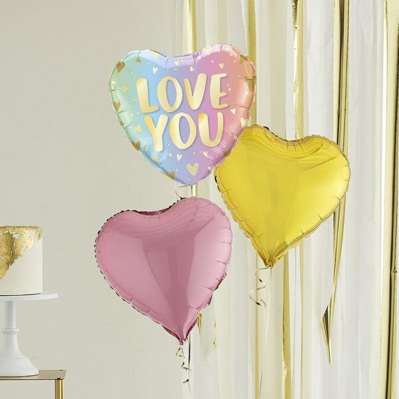 Balloons In A Box Inflated Love You Balloons Mothers Day Balloons Helium Balloons